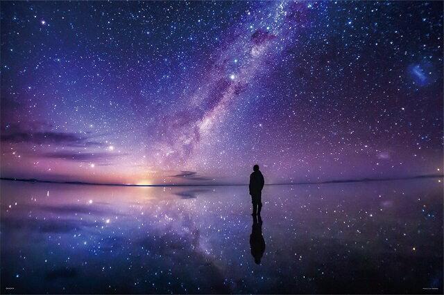 1000ピース ジグソーパズル KAGAYA 銀河のほとりで(ウユニ塩湖) 【光るパズル】(50x75cm) 【100】(10-1294)[やのまん] t102