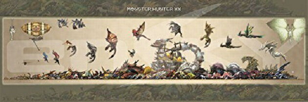 モンスターハンター 950ピース ジグソーパズル モンスターハンターXX モンスターサイズ早見表 (950-45)【100】(950-45)[エンスカイ] t101