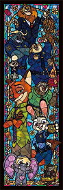 【あす楽】ジグソーパズル 456ピース ディズニー ズートピア ぎゅっとシリーズ ステンドアート (18.5x55.5cm) (DSG-456-733) テンヨー 梱60cm t101