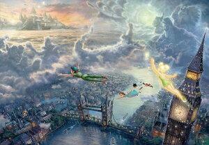 【在庫あり】ジグソーパズル 1000ピース ディズニー ピーターパン トーマス キンケード Tinker Bell and Peter Pan Fly to Never Land スペシャルアートコレクション (51x73.5cm)(D-1000-031) テンヨー 梱80cm t1