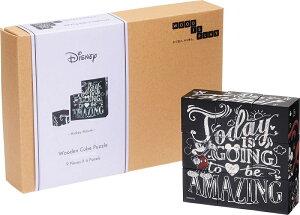 ジグソーパズル 9ピース キューブパズル ディズニー ミッキー ブラックボード 木製 WOODISPLAY (607-01) やのまん 梱60cm t101