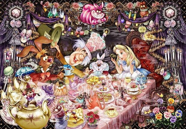 ジグソーパズル 1000ピース ディズニー 不思議の国のアリス 醒めない夢のティーパーティ— 世界最小1000ピース (29.7x42cm) (DW-1000-004) テンヨー 梱60cm t100