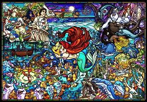 【在庫あり】ジグソーパズル 1000ピース ディズニー リトル・マーメイド ストーリー ステンドグラス 【ピュアホワイト】 (51x73.5cm)(DP-1000-033) テンヨー 梱80cm t100