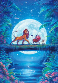 【あす楽】ジグソーパズル 1000ピース ディズニー ライオン・キング ムーンライト ハクナマタタ (51x73.5cm)(D-1000-047) テンヨー 梱80cm t100