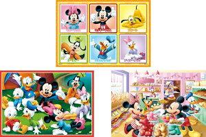 ジグソーパズル 16・25・35ピース ディズニー ミッキー&フレンズ たのしいまいにち【はじめてのジグソーパズル】(61-006) エポック社 梱60cm t101