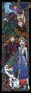 【在庫あり】ジグソーパズル ジグソーパズル ディズニー アナと雪の女王2 ステンドグラス ぎゅっと456ピース (18.5x55.5cm)(DSG-456-739) テンヨー 梱60cm t104