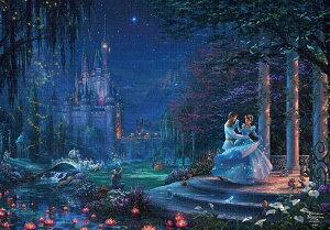 【在庫あり】ジグソーパズル テンヨー ジグソーパズル ディズニー トーマス・キンケード Cinderella Dancing in the Starlight 1000ピース (51x73.5cm)(D-1000-068) テンヨー 梱80cm t100