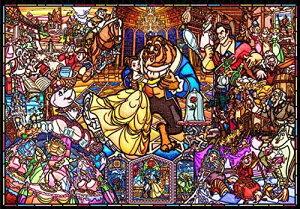 【在庫あり】ジグソーパズル ジグソーパズル 美女と野獣 ストーリー ステンドグラス 500ピース ぎゅっと【ステンドアート】 (25x36cm)(DSG-500-667) テンヨー 梱60cm t101