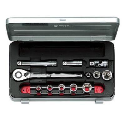 送料無料 【KTC工具】 3/8 9.5sq 6角 スタンダードソケット・レンチ セット (14点:7〜19mm) / TB308
