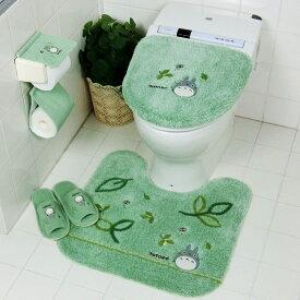 となりのトトロ トイレマット セット 4点 グリーン 洗浄暖房便座 ジブリ センコー トトロ もりのかぜ 緑 2020年 最新型 送料無料
