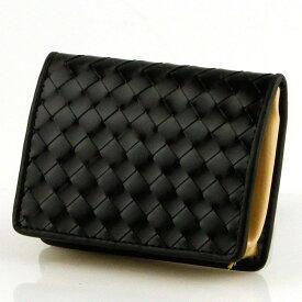 69edf940f818 小銭入れ 二つ折り財布 メンズ 馬革牛革 メッシュ コインケース ブラック 8×10