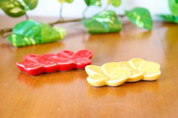 フランジパニ 箸置き 【JENGGALA KERAMIK】 ジェンガラケラミック 食器 アジアン バリ