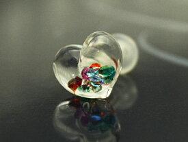 【ボディピアス】ボディピアス☆ガラスのハート6G:4ミリサイズ【かわいい】