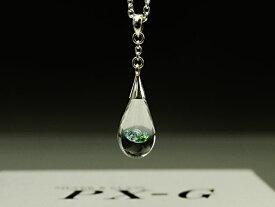 PX-G Silver Pendant&Pierce シルバーガラスアクセサリー ガラス雫Lペンダント&ピアス