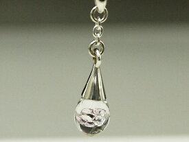 PX-G Silver Pendant&Pierce シルバーガラスアクセサリー ガラス雫Sペンダント&ピアス