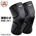 膝サポーター 薄手 2枚 しっかり スポーツ 高齢者 ひざ サポーター 大きいサイズ PYKES PEAK ゆうパケット