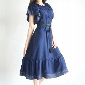 Long dress dress dress navy dress dark blue flare sleeve dress flare long shot dress with stitch that a handkerchief sleeve is wonderful where a dress long dress resort dress short sleeves dress is cool in the summer