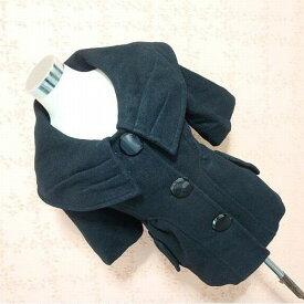 ラスト1点 コート レディース 大きな襟が素敵なキュートなショートウールコート ウール 羊毛 厚手 暖かい ショートコート 大きなボタンが可愛い 黒 アウター 秋冬アウター 秋冬 重ね着おススメ