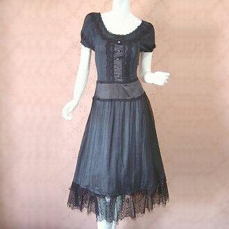 ★ a beautiful elegant lace knit toggle シルクロングワン piece