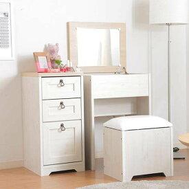 ドレッサー 化粧台 おしゃれ 安い コンパクト 収納 大きい メイクボックス スリム 北欧 白 幅50 スツール 椅子 机 テーブル 収納付き 1面鏡椅 チェア