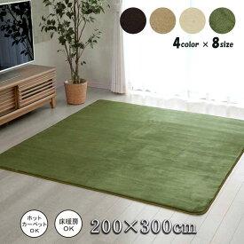 ラグ カーペット 6畳 洗える 4畳 おしゃれ 絨毯 年中 無地 ラグマット 洗濯 防音 長方形 厚手 格安 シンプル 200×300