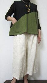 【大きいサイズ/日本製/送料無料】粋な活き活きベスト /綿100% 大きいサイズ 40代.50代.60代.70代 個性派 シニア ミセス レディースファッション