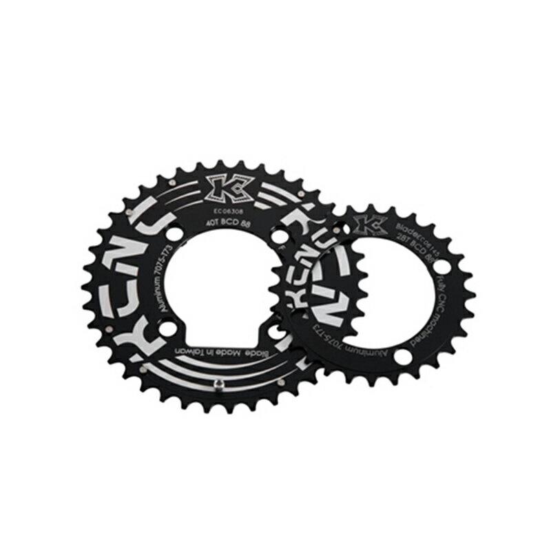 KCNC (ケーシーエヌシー) K2-KTYPE (K2 Kタイプ) MTBダブルセット:40T/88 ブラック[クランク・チェーンホイール][マウンテンバイク用]