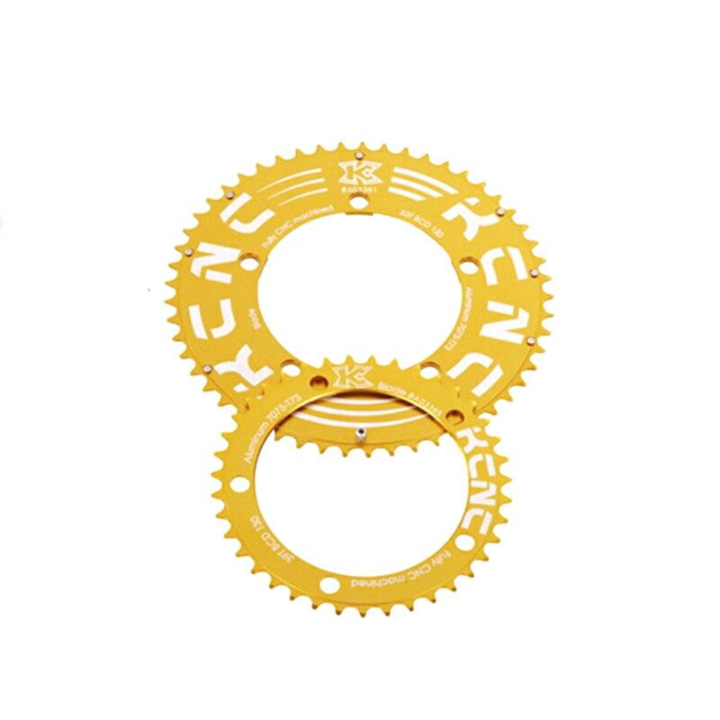 KCNC (ケーシーエヌシー) K2-KTYPE (K2 Kタイプ) ROADダブルセット:39T/110 ゴールド[クランクセット(PCD110)][クランク・チェーンホイール]