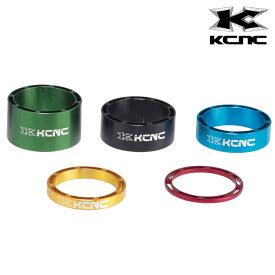 《即納》【土日祝もあす楽】KCNC ケーシーエヌシー HEADSET SPACER SLS 28.6mm ヘッドセットスペーサー SLS 10mm [コラムスペーサー] [ロードバイク] [クロスバイク] [MTB]