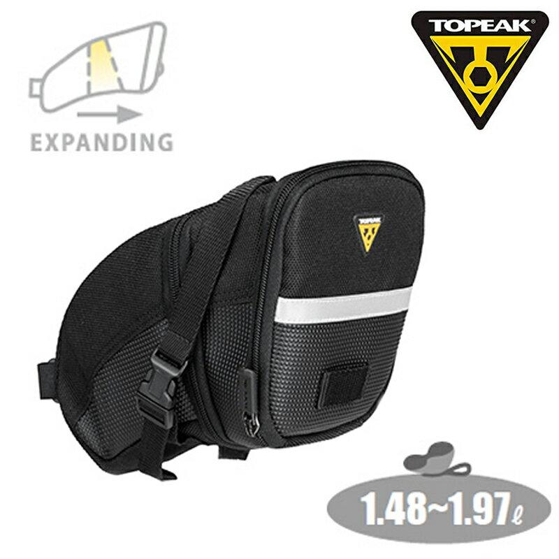 《即納》【あす楽】TOPEAK AeroWedgePack(StrapMount) Lサイズ(BAG21903) トピーク エアロウェッジパック(ストラップマウント)[サドルバッグ][ラージサイズ]