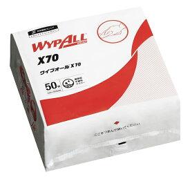 《即納》【12/10日限定●楽天カードでエントリーでP10倍確定:対象商品】【土日祝もあす楽】WYPALL(ワイプオール) ワイプオール X-70 4つ折り (50枚入)[クリーニングキット][メンテナンス][工具]