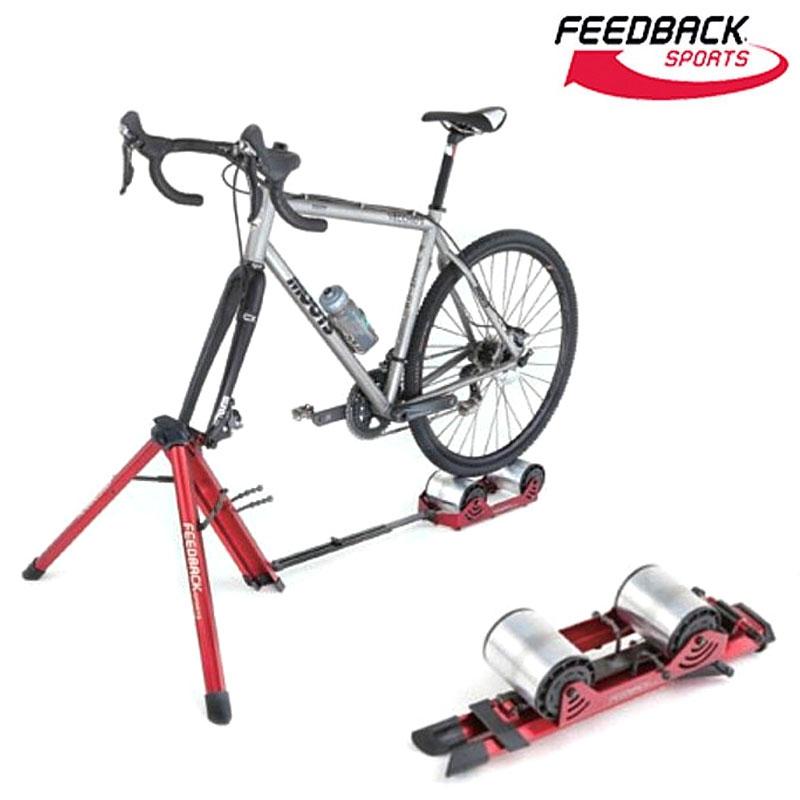 【スタイリッシュローラー台!】FEEDBACK SPORTS(フィードバックスポーツ) Portable Bike Trainer ハイブリット式ローラー台