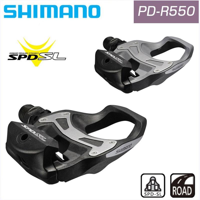 SHIMANO (シマノ) PD-R550 Pedals (ペダル) SPD-SL[ビンディングペダル(ロード用)]