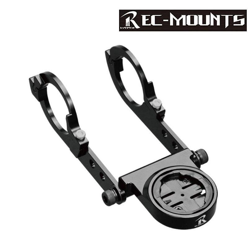 《即納》【あす楽】【ガーミンEDGEシリーズをハンドルに取り付ける】REC-MOUNTS(レックマウント) Type19 Garmin用ベースのみ 31.8mm対応 ガーミン用マウント