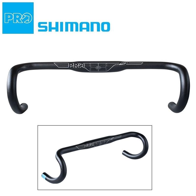 《即納》【土日祝もあす楽】SHIMANO PRO(シマノ プロ) LTコンパクト ドロップハンドル[ハンドル・ステム・ヘッド][ドロップハンドルバー][31.8mm]