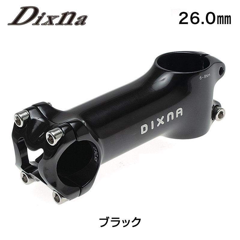 Dixna(ディズナ) リードステム BLACK クランプ径26.0mm[ハンドル・ステム・ヘッド][26.0mm][ロード用]
