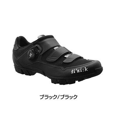 fizi:k(フィジーク)2018年モデルM6BUOMO(メンズ)BOAMTBシューズ(ブラック/ブラック)[クリップレス][マウンテンバイク用]