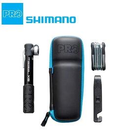 シマノプロ CAPSULE COMBINATION PACK (カプセルコンビパック)4点セット(携帯ポンプ タイヤレバー 携帯工具 ツールケース) SHIMANO PRO 送料無料