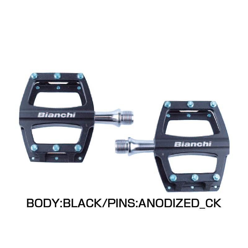 《即納》【土日祝もあす楽】【ビアンキ純正パーツ】Bianchi(ビアンキ) PEDALS FULL CNC 6061 CNC軽量フラットペダル (P01090001BK0)