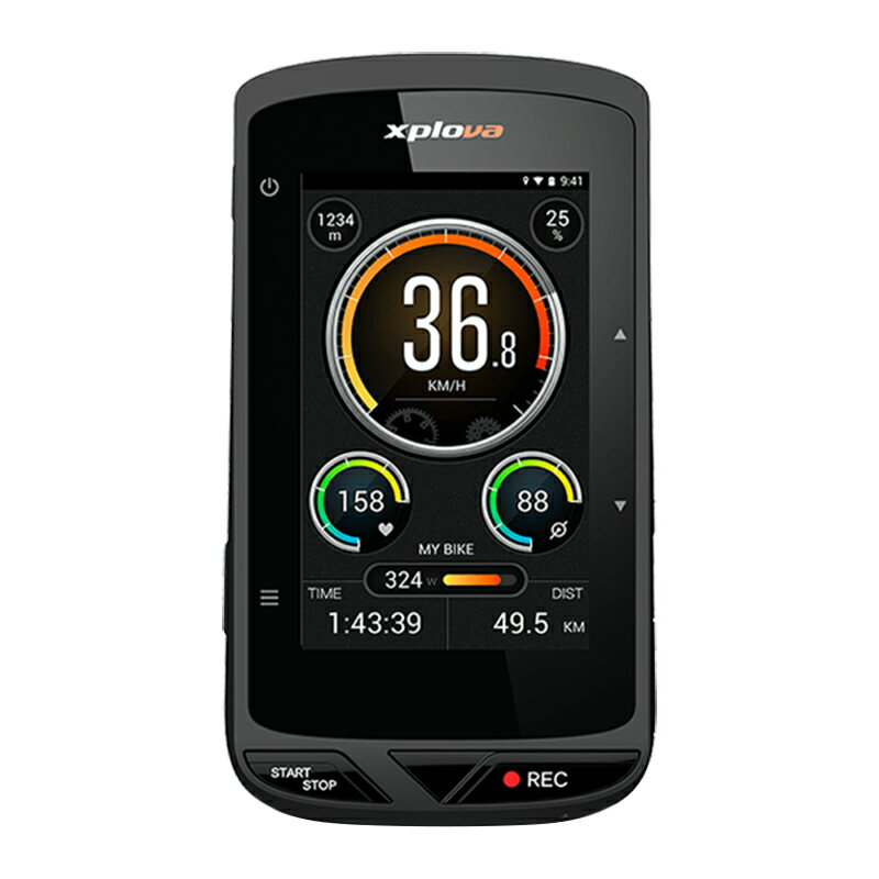 《即納》【土日祝もあす楽】Xplova(エクスプローバ) X5 EVO (X5エボ)カメラ付GPSサイクルコンピューター[GPSログ][GPS/ナビ/マップ]
