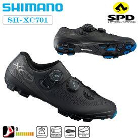 《即納》【土日祝もあす楽】【タイムマシーンセール リターンズ!】SHIMANO(シマノ) XC7ワイド MTBシューズ(SH-XC701) 幅広モデル [サイクルシューズ] [サイクリング] [MTB]