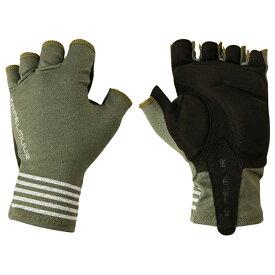 KAPELMUUR(カペルミュール) サイクルグローブボーダーカーキ kpgs054 [サイクル グローブ] [手袋] [ウェア] [ロードバイク]