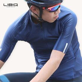 《即納》【土日祝もあす楽】LIBIQ(リビック) ロングライド専用ウィングジャージ 半袖 サイクルジャージ メンズ 春夏 ロードバイク用ウェア 自転車 サイクリング【国内独占】