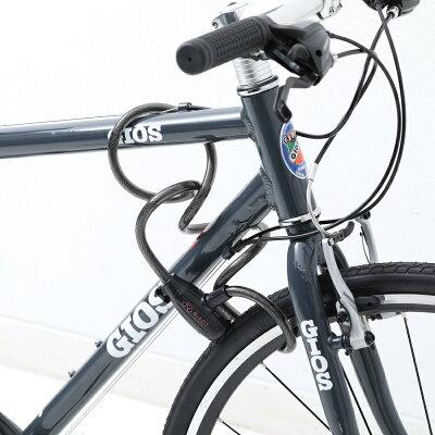 【土日祝もあす楽】BIKOT(ビコット)コイルワイヤーロック麻の葉チャーム付きブラケット付自転車用鍵[その他][ロック・カギ]