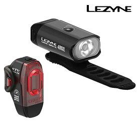 LEZYNE(レザイン) MINI DRIVE & KTV PRO LIGHTS SET (ミニドライブ)フロント・リア前後ペアセット 充電式 [ヘッドライト] [ロードバイク] [クロスバイク]