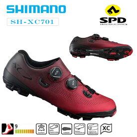 シマノ XC7(SH-XC701)ワイド 限定レッド SPDビンディングシューズ SHIMANO 一部あす楽 送料無料 シューズ サイクルシューズ サイクリング◆