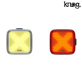《即納》【土日祝もあす楽】knog(ノグ) BLINDER X TWIN PACK (ブラインダーXツインパック)フロント200ルーメン・リア100ルーメン 前後セット 充電式[自転車ライト][フロント][フラッシング]
