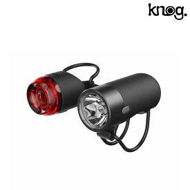 《即納》【土日祝もあす楽】knog(ノグ) PLUG TWINPACK (プラグツインパック)フロント250ルーメン・リア10ルーメン 前後セット 充電式[自転車ライト][フロント][フラッシング]