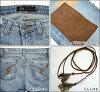 JET by John Eshaya Jet VINTAGE SUEDE PATCH suede patchwork jeans denim VPSJ