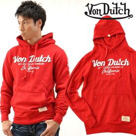 Von Dutch ボンダッチ プルオーバーパーカー 赤 pohd24